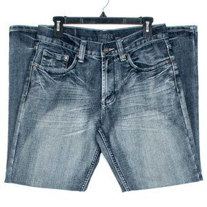 Flypaper Mens Jeans Bootcut Flap Pocket Blue 30 HO
